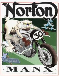 Norton Manx illustration
