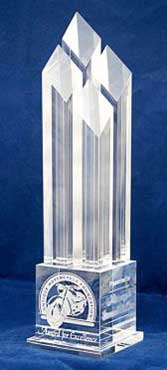 Excellence award trophy