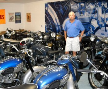 Mike Crone with his bikes