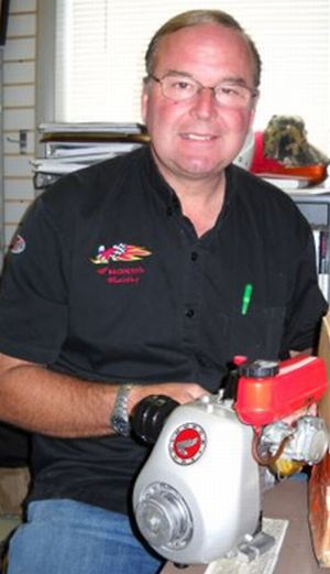 Bob Logue and Honda engine