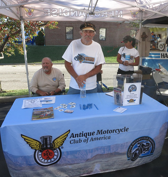 Volunteers at AMCA-AMF Cannonball Booth